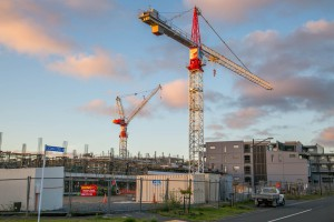 Construction works at Stonefields, Auckland